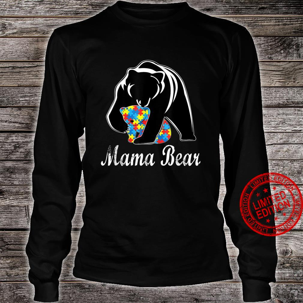 Autism Awareness Mama Bear Support Autistic Adults Shirt long sleeved