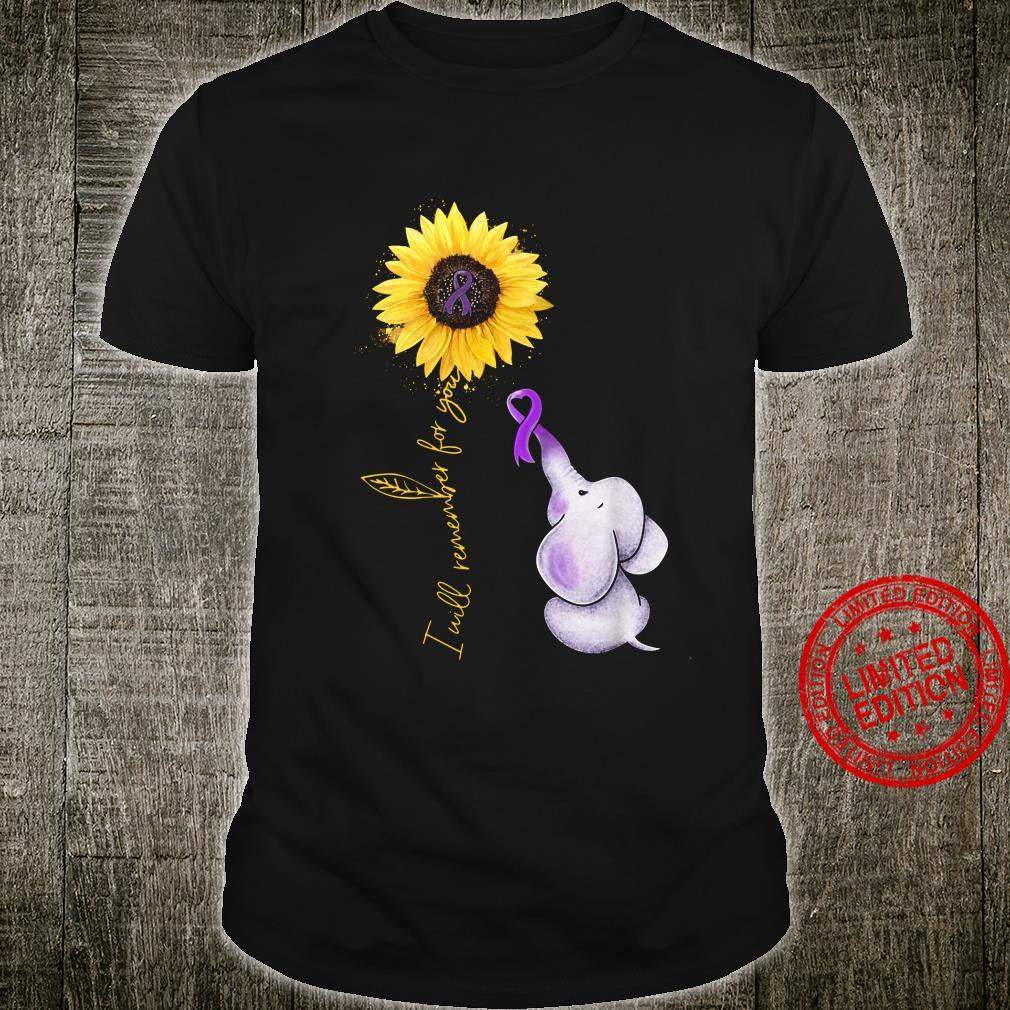 I Will Remember For You Elephant Sunflower Shirt