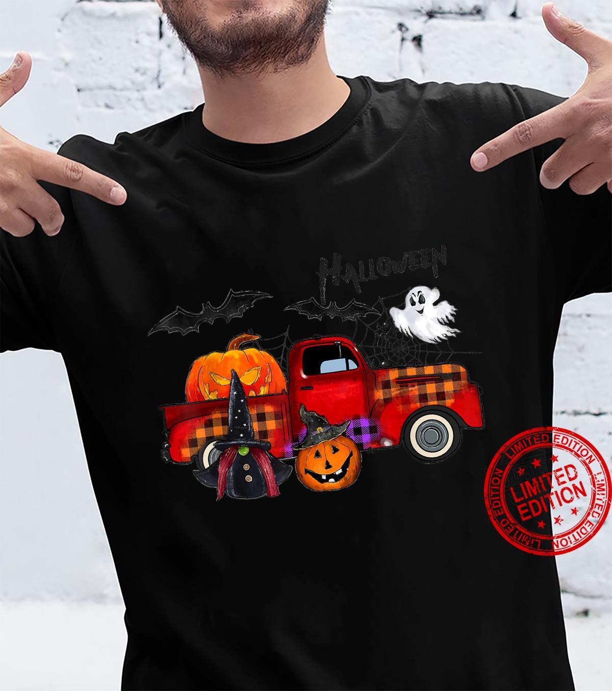 Truck Pumpkin Halloween Boo Spooky Witch Shirt