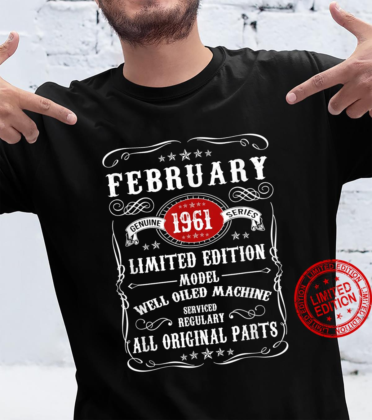 Vintage March 1961 60th Birthday 60 Years Old Shirt