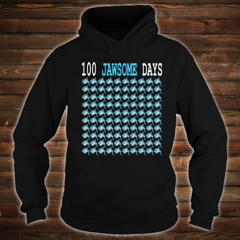 100 Jawsome Days Of School Shark Students Boys Shirt hoodie