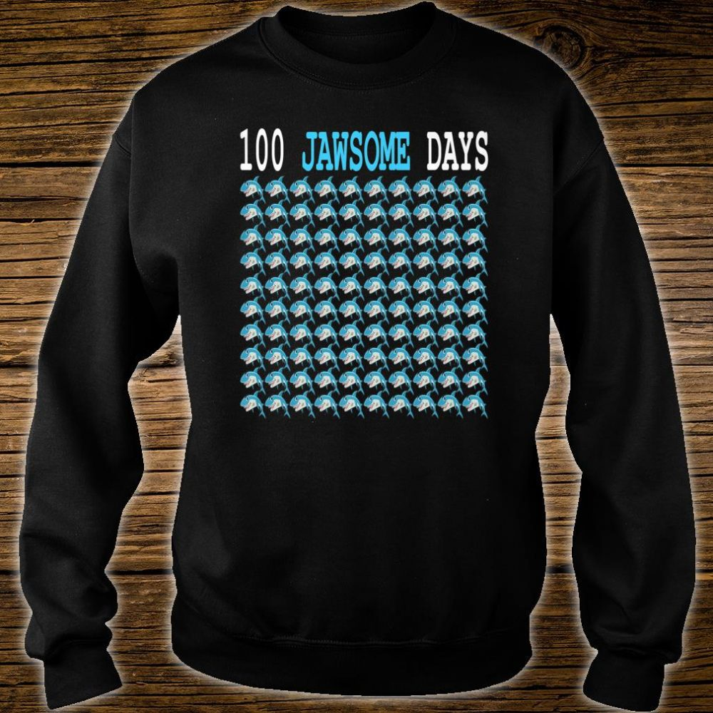 100 Jawsome Days Of School Shark Students Boys Shirt sweater