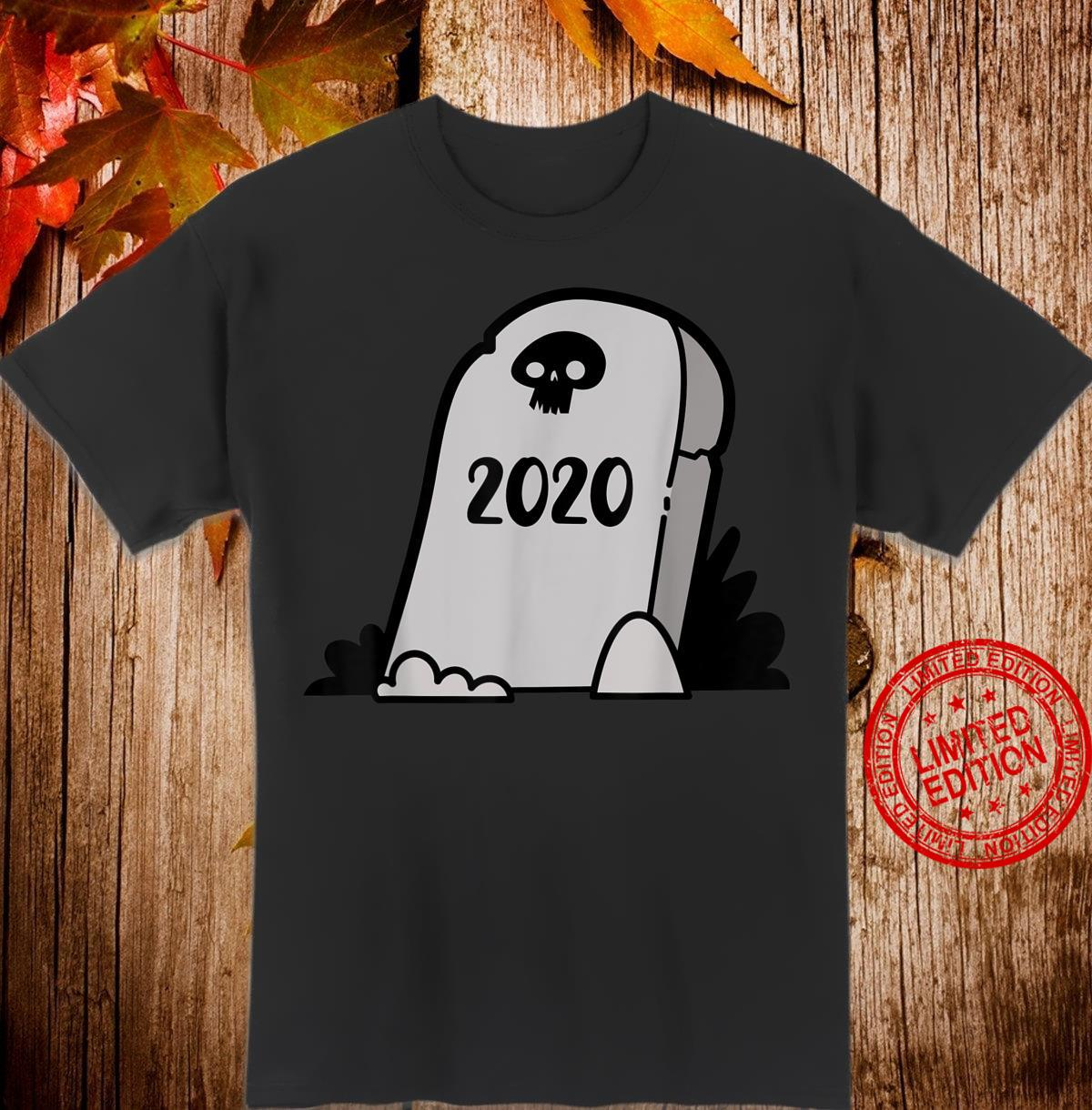 2020 Halloween, Cartoon Gravestone, Quarantine Shirt