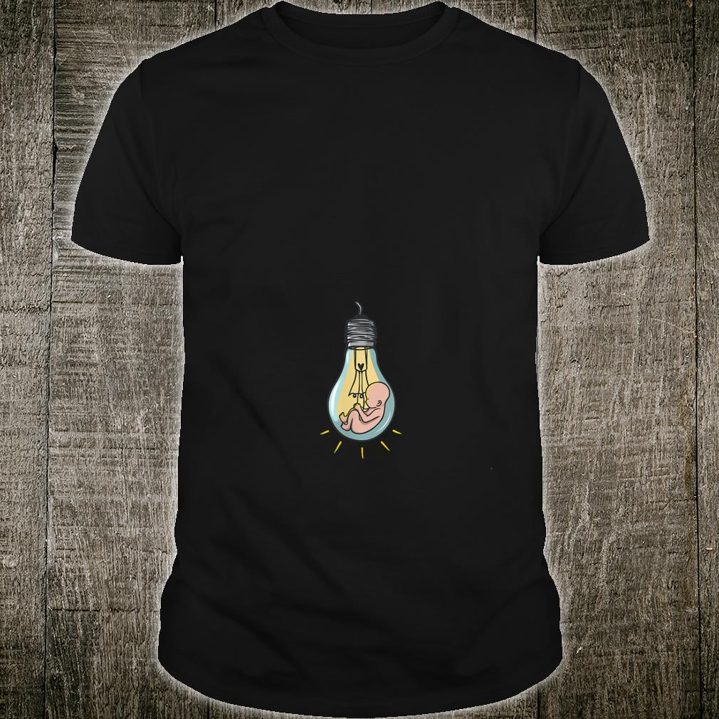 Baby in Light Bulb Funny Pregnancy for Expecting Mothers Shirt
