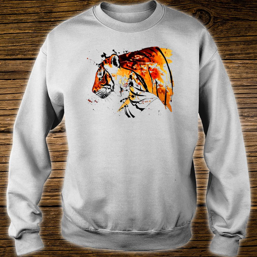Beautiful Tiger Hand Painted Art Shirt sweater