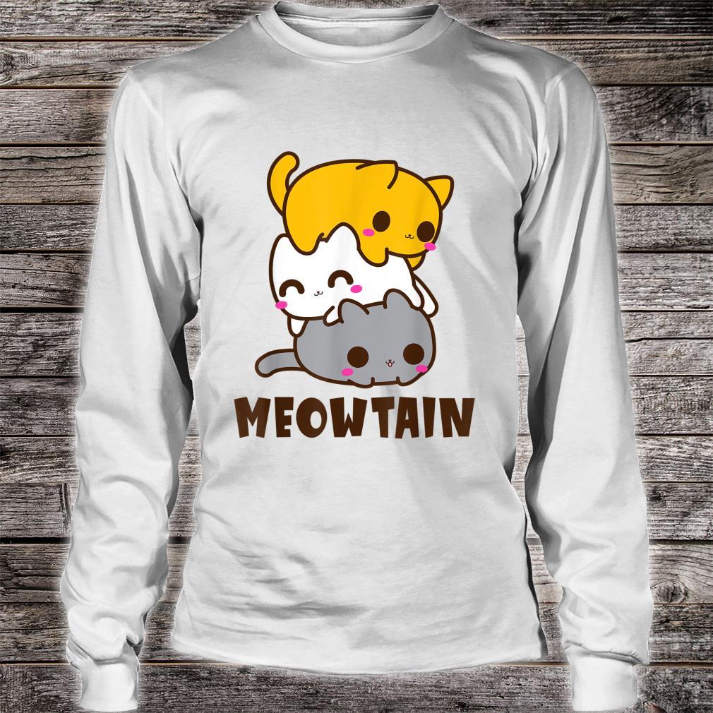 Behold a Meowtain Cat Mountain Pile Kitten Shirt long sleeved