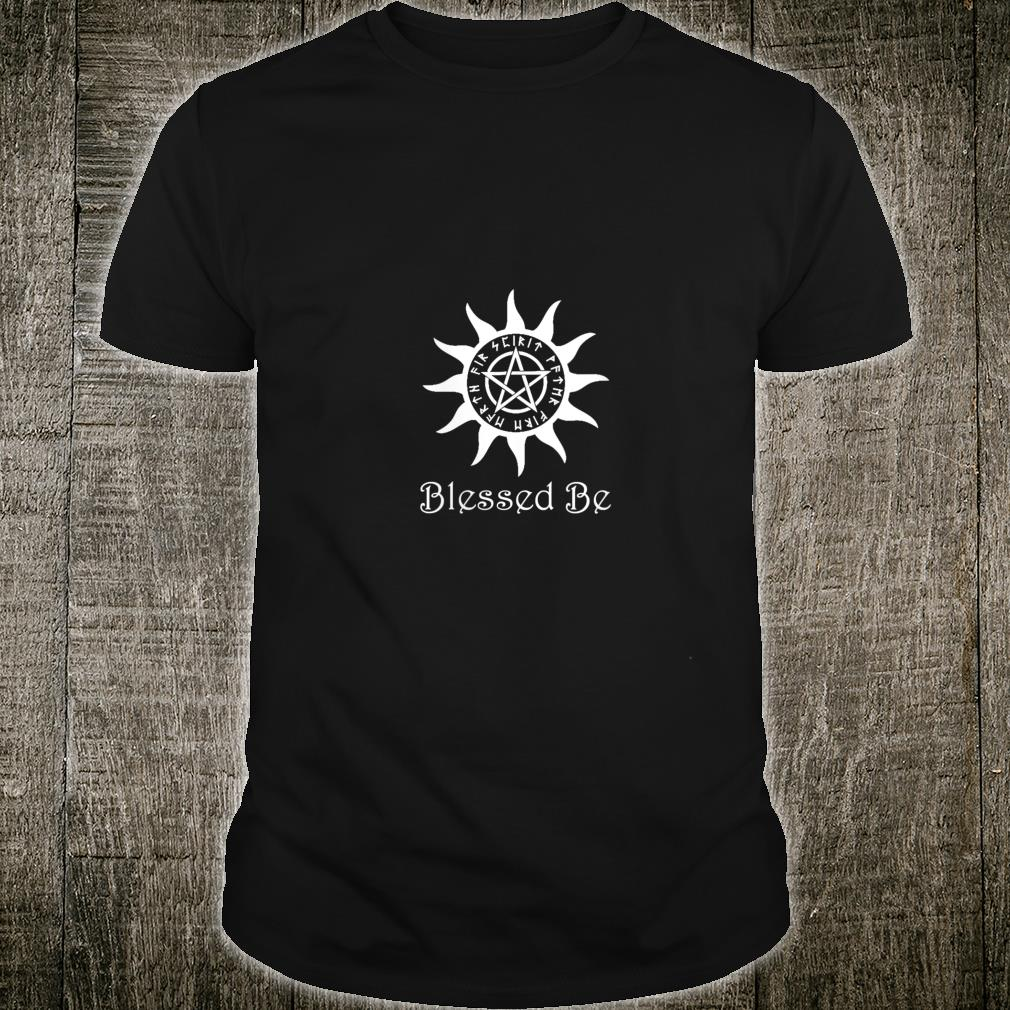 Blessed Be Pentagram Pagan Wiccan Sun Shirt