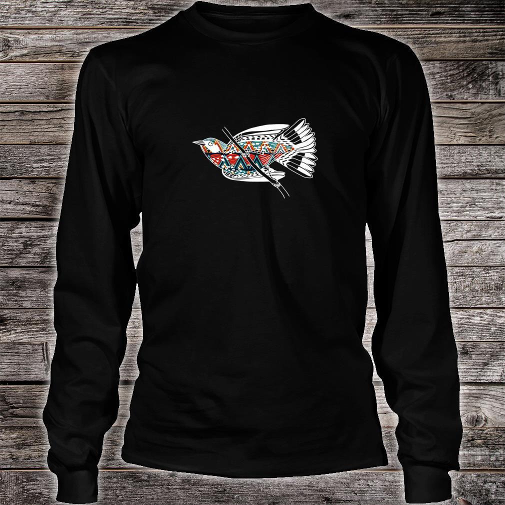 Cute Bird Flying Beautiful Art Design Art Shirt long sleeved