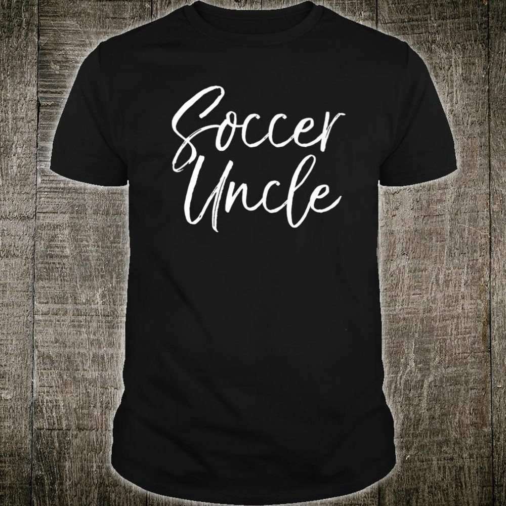 Cute Soccer Uncle & Aunt Matching Family Soccer Uncle Shirt