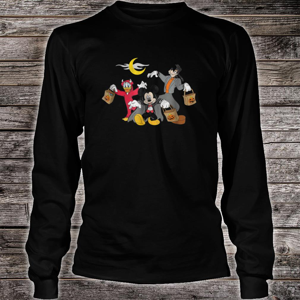 Disney Mickey goofy Donald Halloween Squad Shirt long sleeved