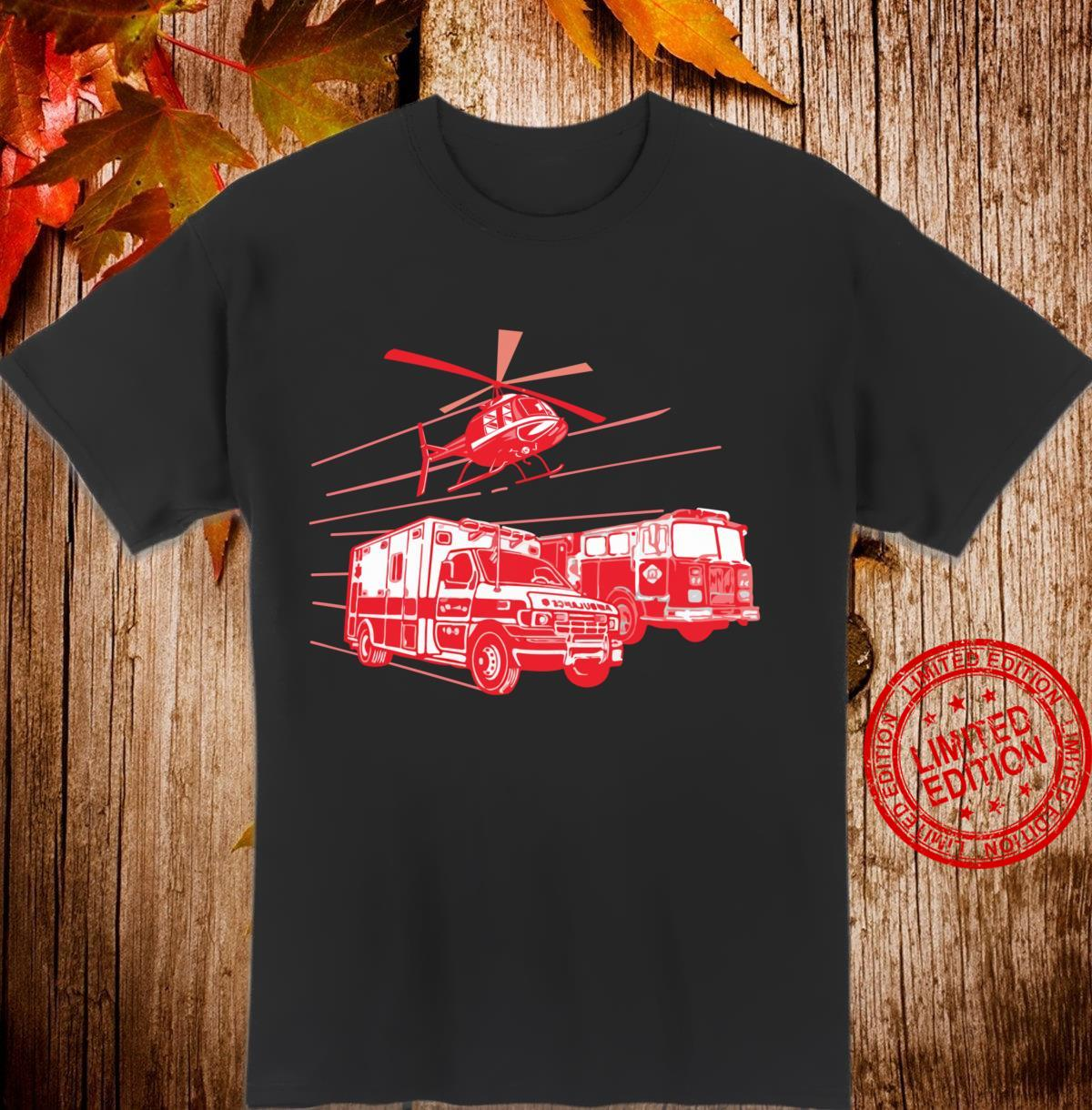 EMS Fire Rescue Truck Helicopter Cute Unique Shirt