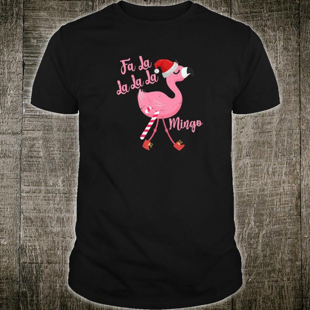 Fa La La La mingo Flamingo Christmas Shirt