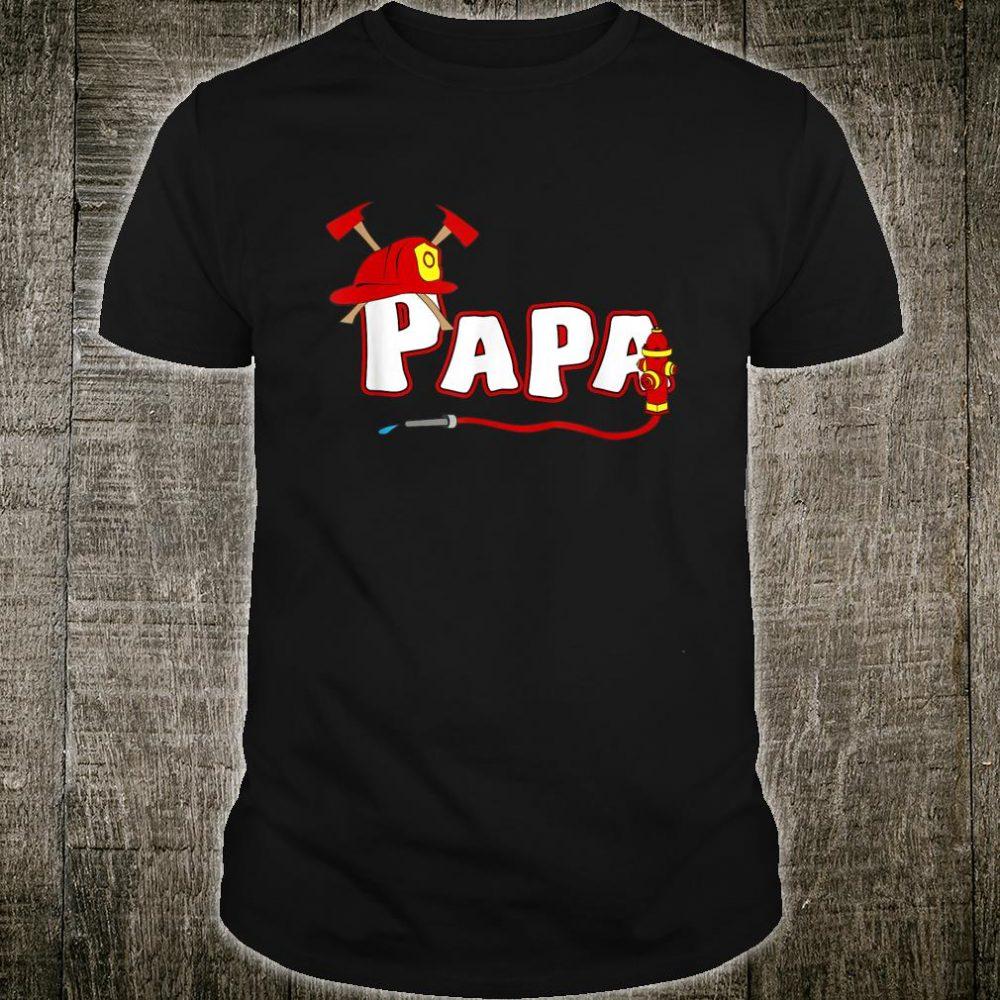 Firefighter grandpa Shirt Fire Department Hydrant Papa Shirt