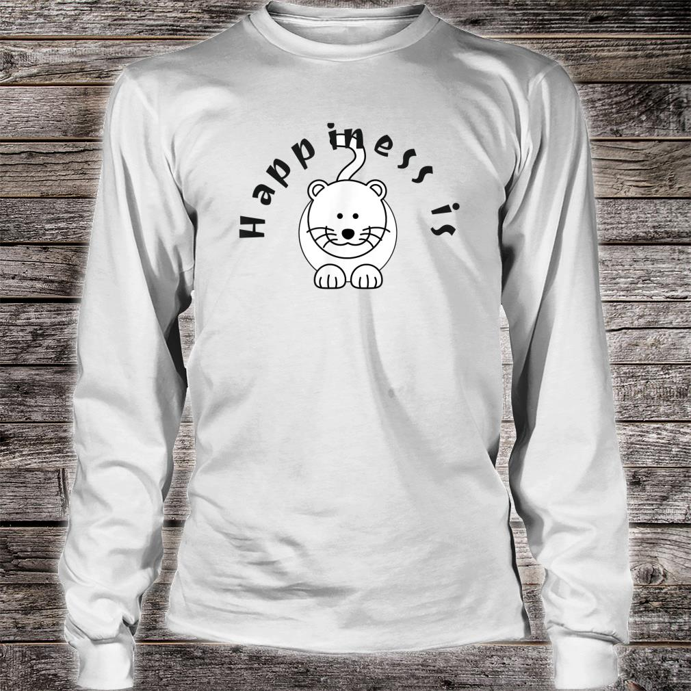 Happiness is a Cat Pet Shirt long sleeved