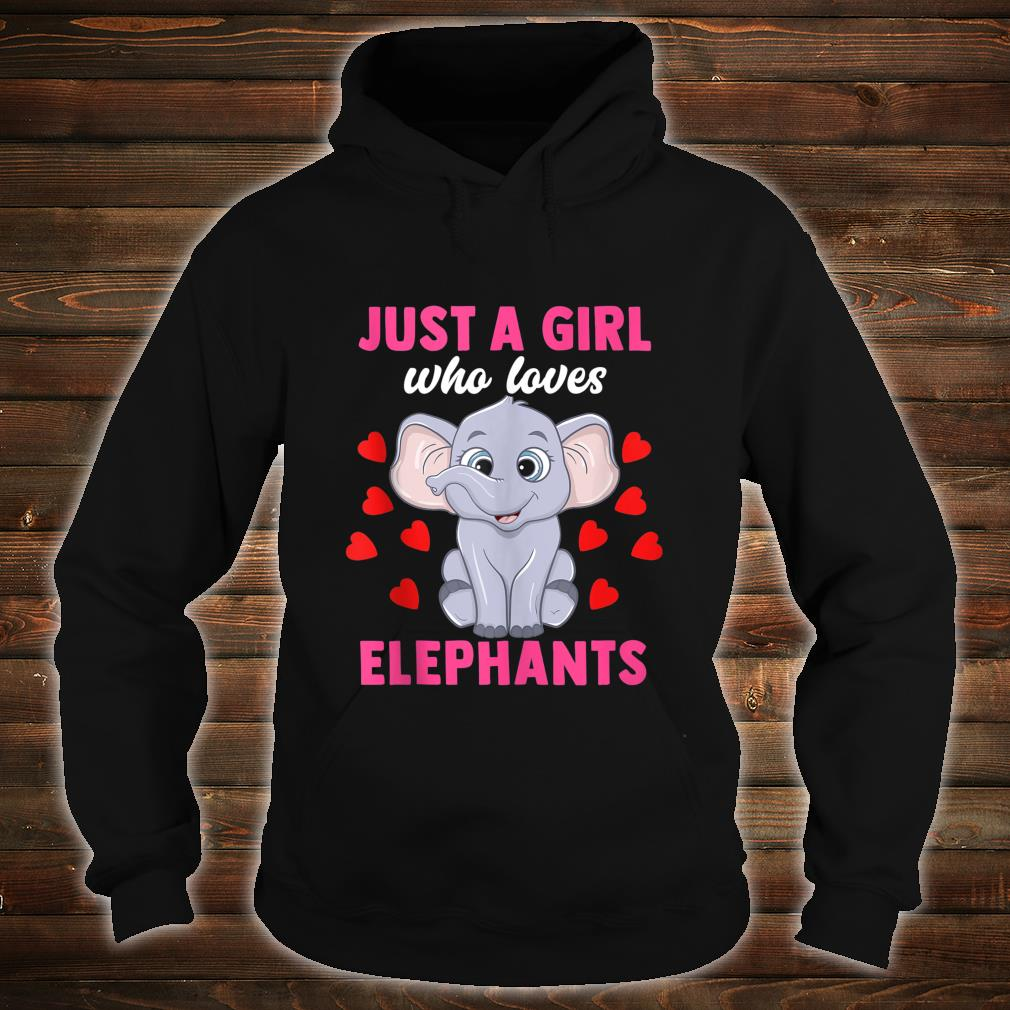 Just A Girl Who Loves Elephants Women African Zookeeper Shirt hoodie