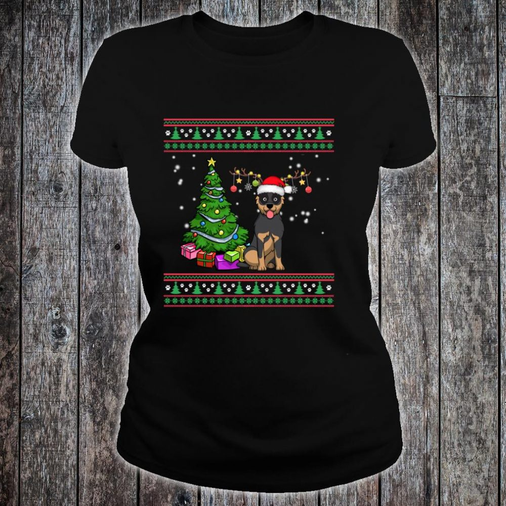 Merry Christmas Australian Cattle Dogs Dog Ugly Shirt ladies tee