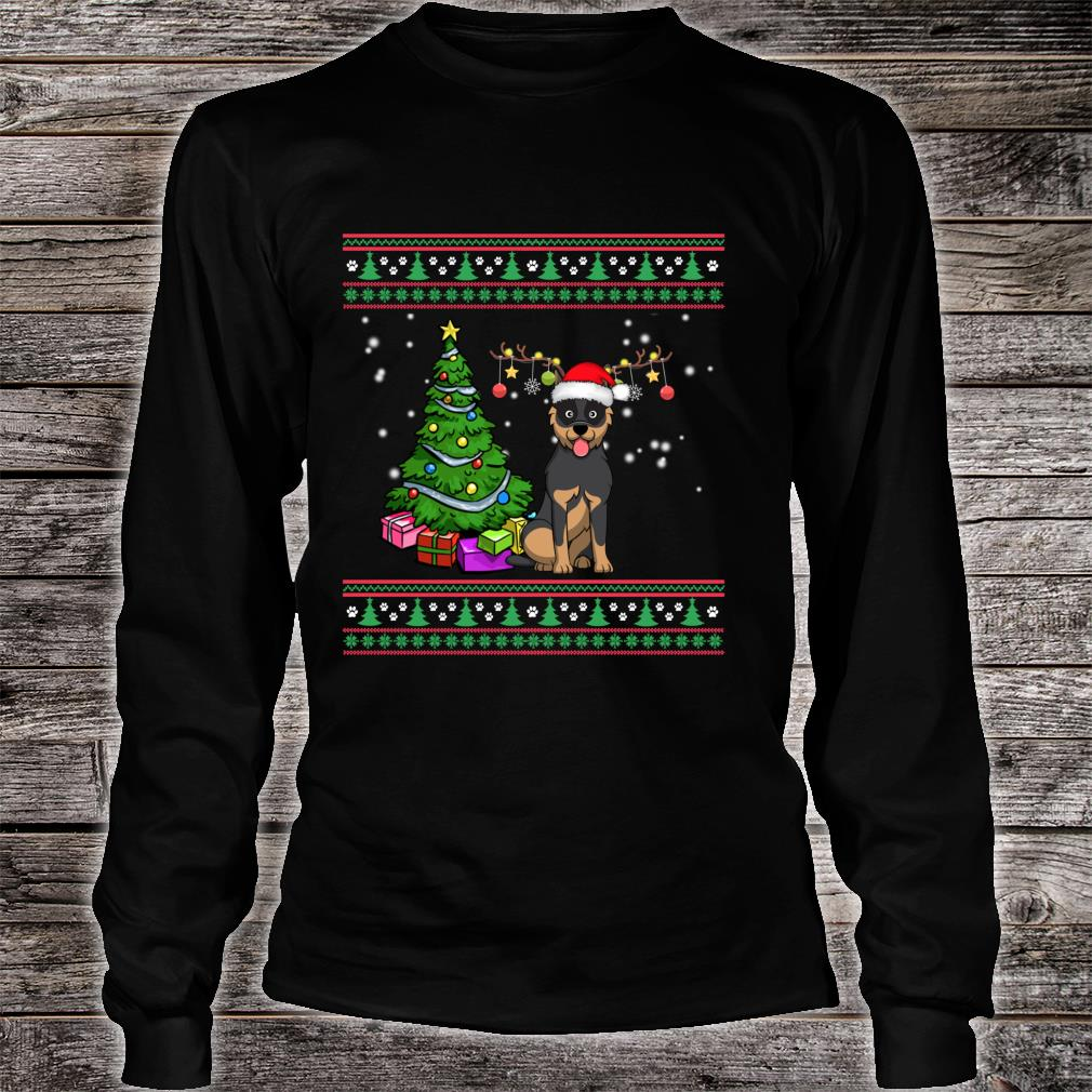 Merry Christmas Australian Cattle Dogs Dog Ugly Shirt long sleeved