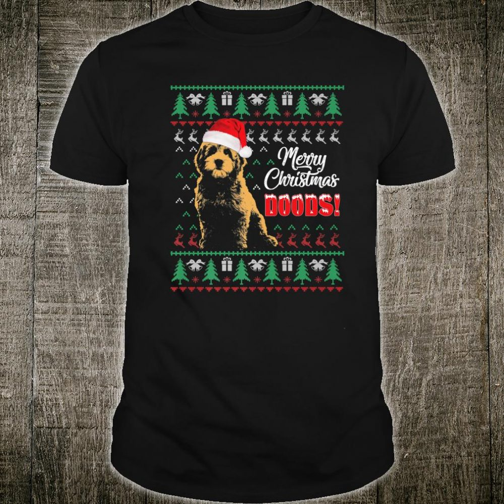 Merry Christmas Dood Goldendoodle Christmas Ugly Shirt