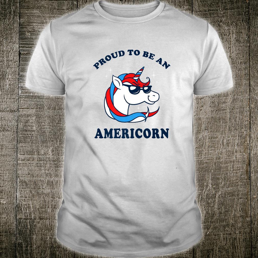 Proud To Be An Americorn 4th Of July Unicorn Cute Shirt