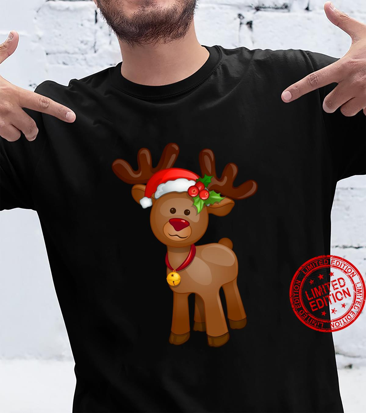 Rudolph The Red Nosed Reindeer Vintage Cartoon Christmas Shirt