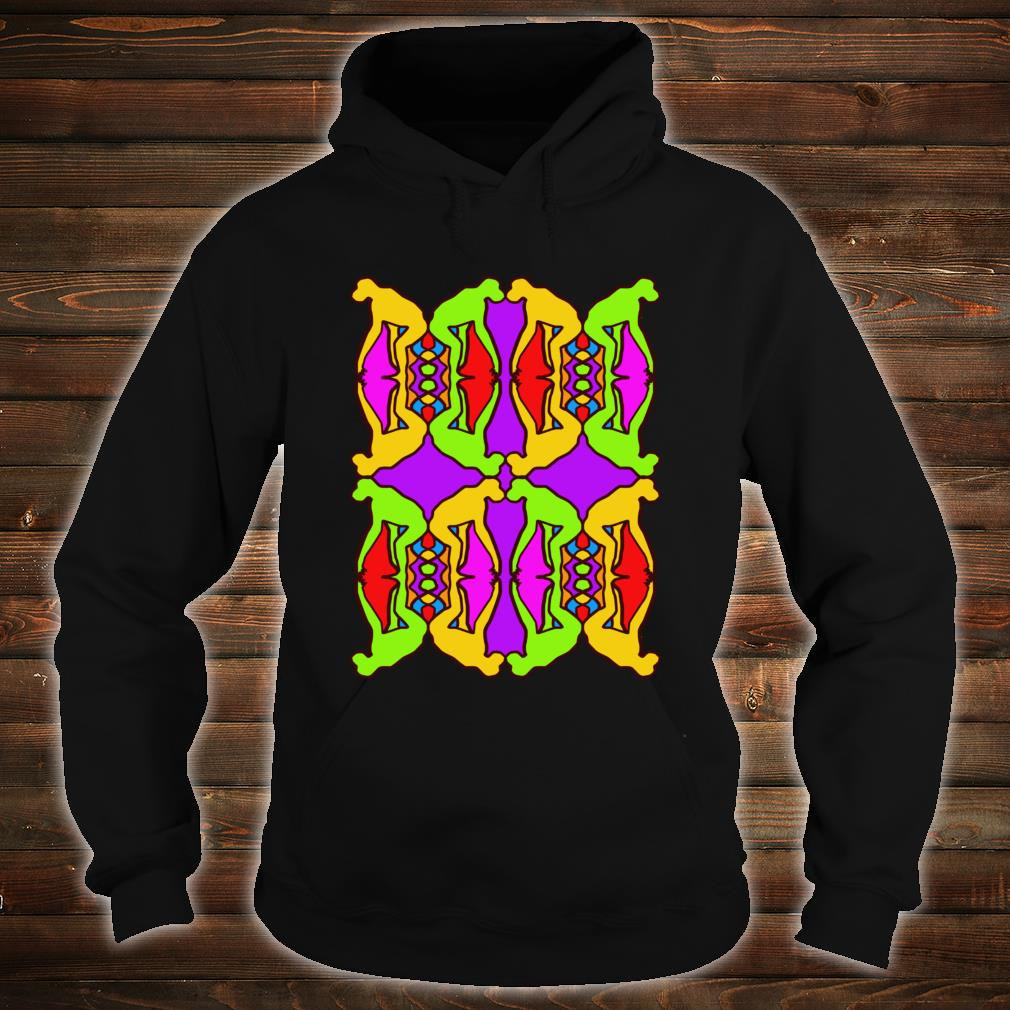 Stoned Ape Theory Psychedelic Pattern Monkeys on Shrooms Shirt hoodie