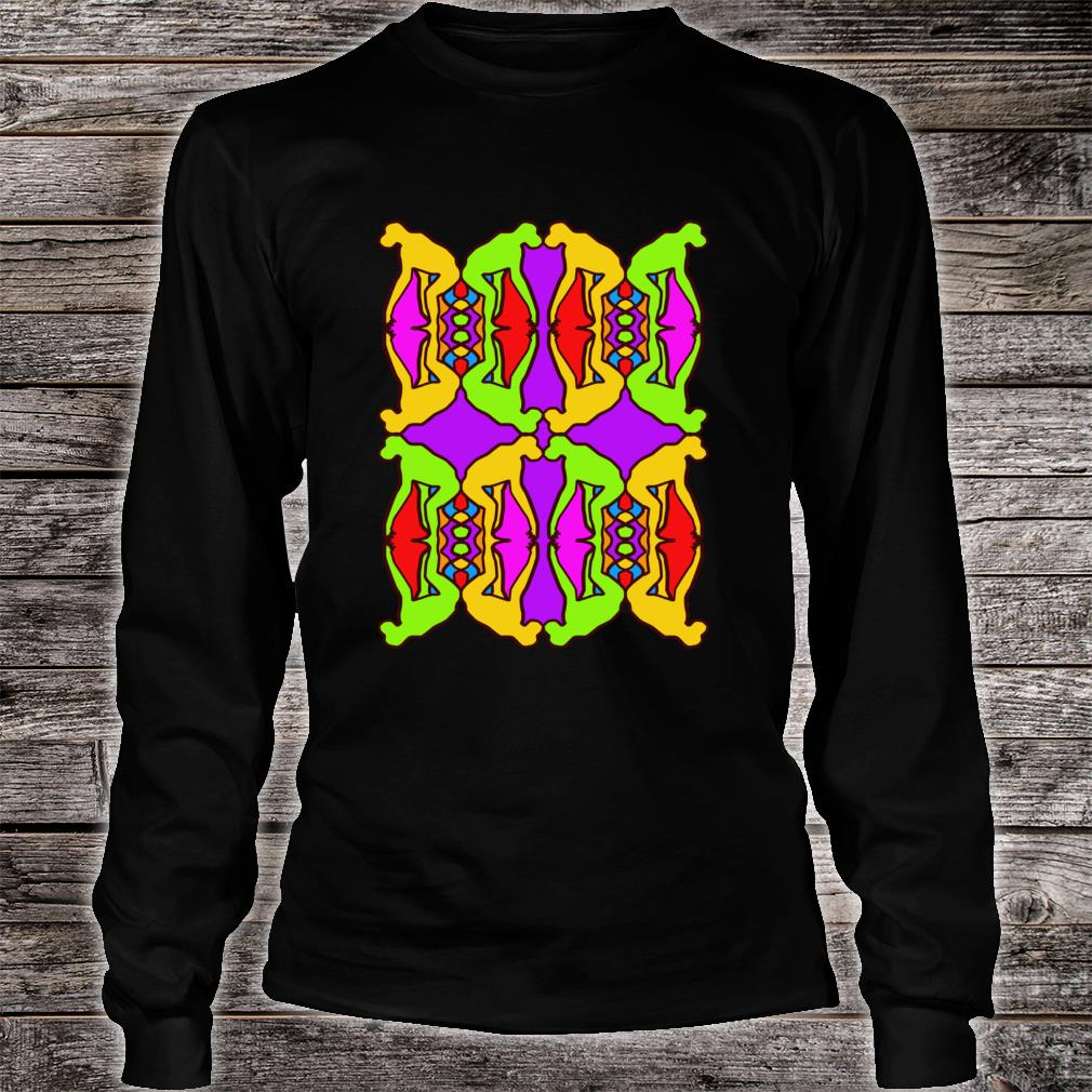 Stoned Ape Theory Psychedelic Pattern Monkeys on Shrooms Shirt long sleeved
