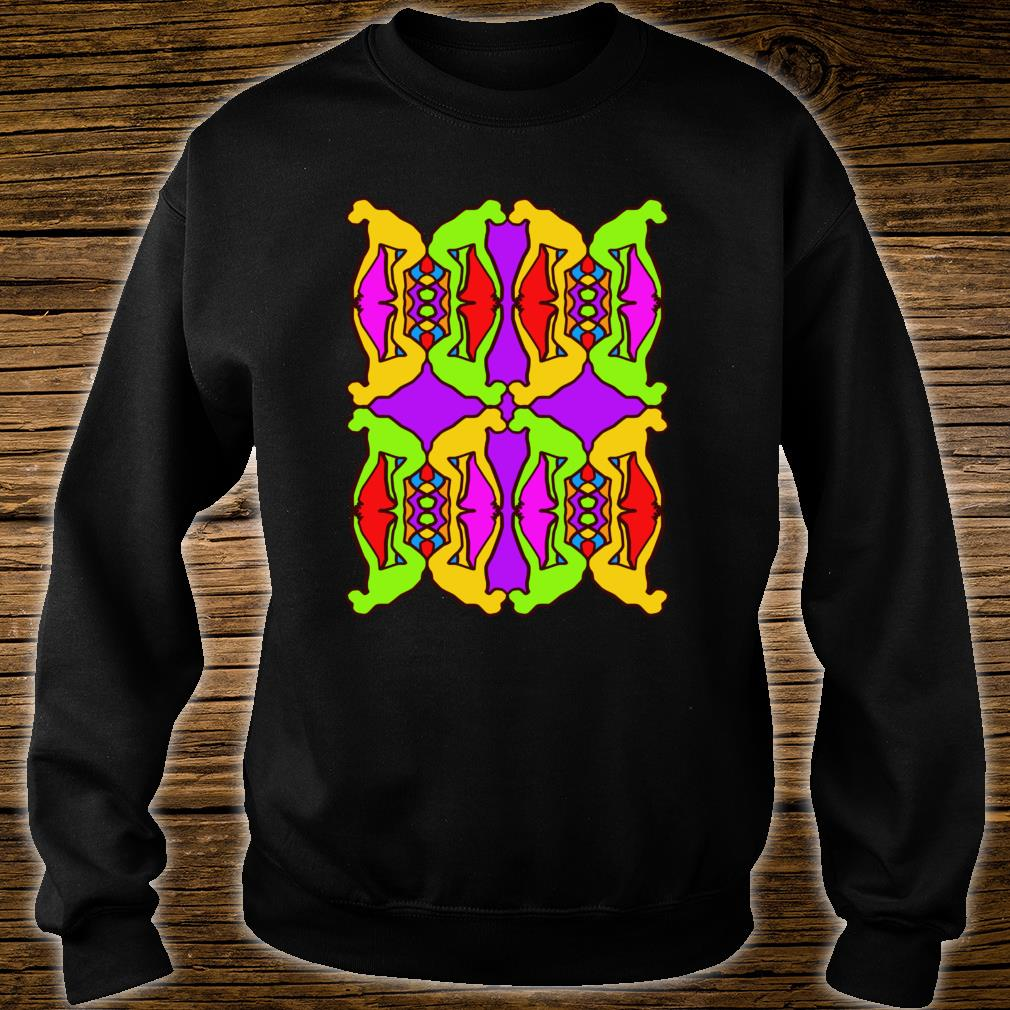 Stoned Ape Theory Psychedelic Pattern Monkeys on Shrooms Shirt sweater