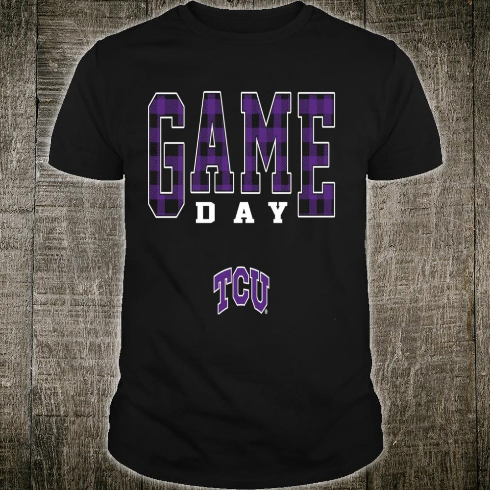 TCU Horned Frogs Game Day Checked Pattern Team College Shirt