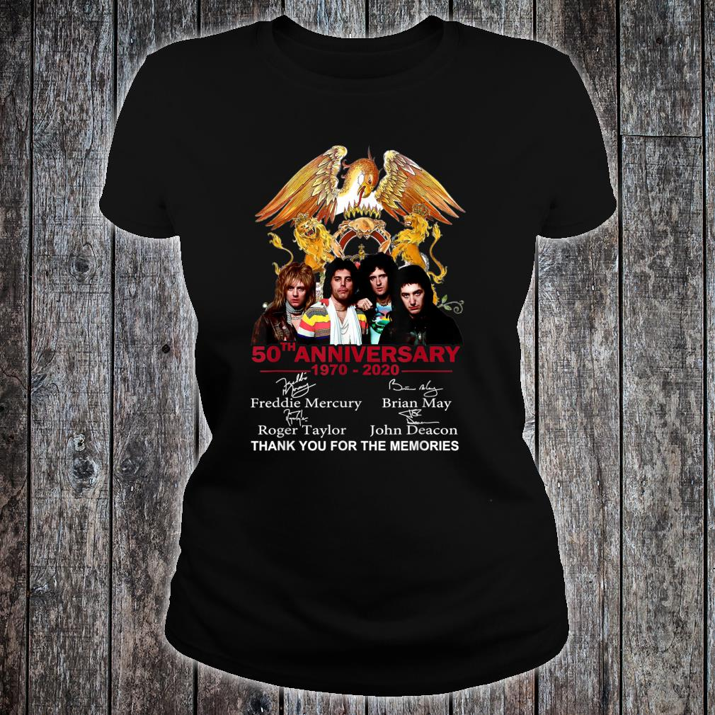 Thank You For The Memories-Queen-50th-Anniversary Shirt ladies tee