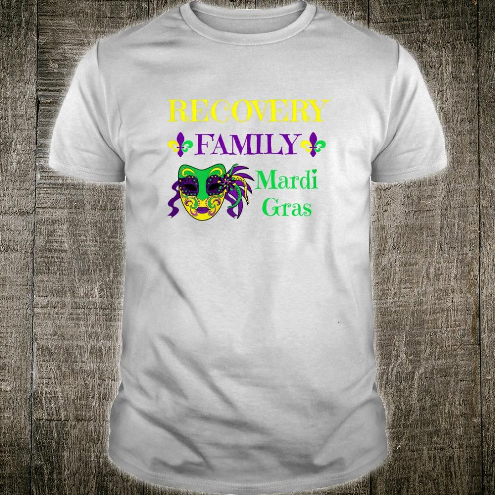 Womens Mardi Gras Recovery Family Sobriety Narcotics Anonymous AA Shirt