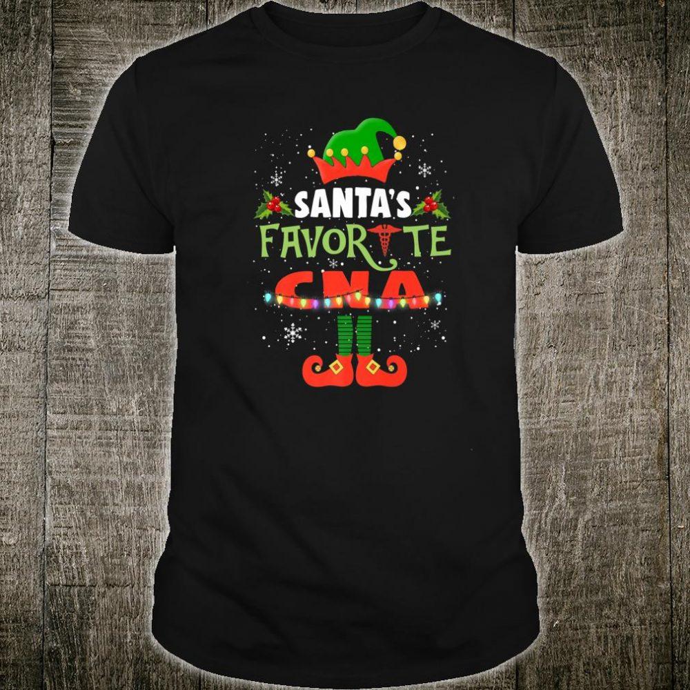 Womens Santa's Favorite CNA Christmas Light Xmas Shirt