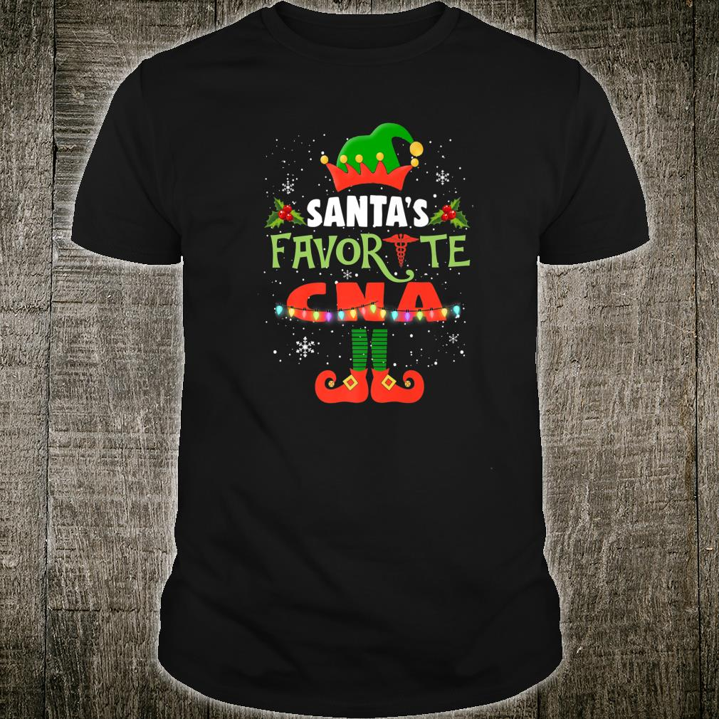 Womens Santa's Favorite CNA Christmas Light Xmas Shirt