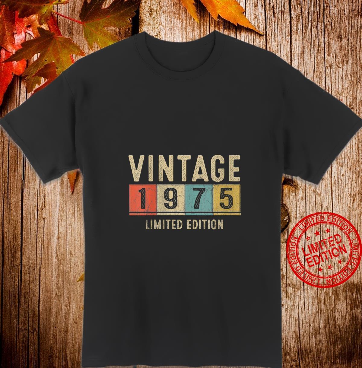 Womens Vintage 1975 Limited Edition 46th Birthday 46 Yrs Old Shirt