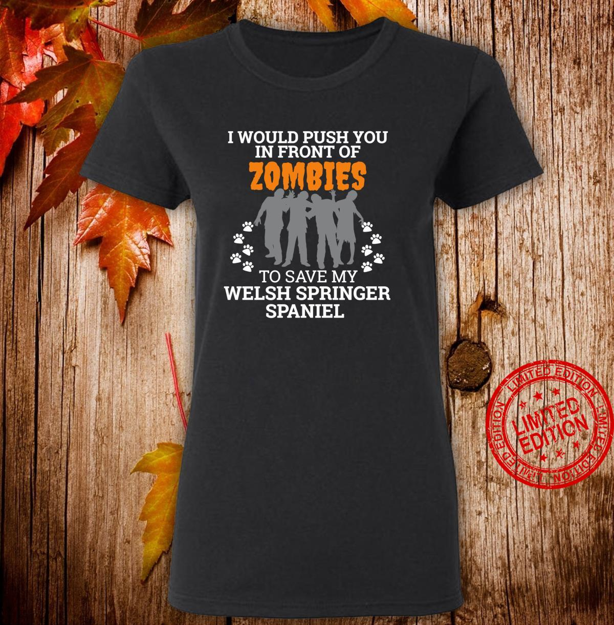 Zombies Welsh Springer Spaniel Dog Owner dog mom Shirt ladies tee