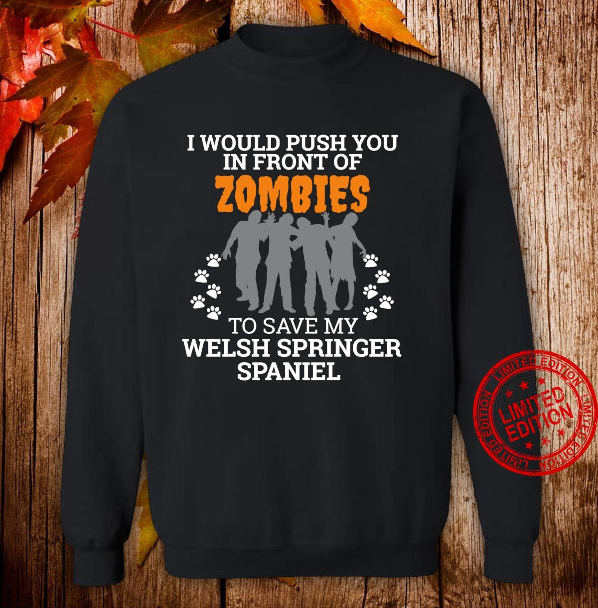 Zombies Welsh Springer Spaniel Dog Owner dog mom Shirt sweater